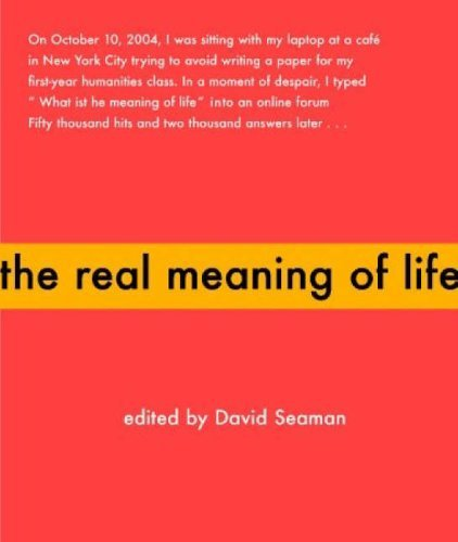 "meaning of life essays The universal question ""what is the meaning of life"" has been asked since the start of civilization the answer from people in today's."